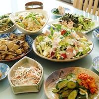 【春色朝ご飯です♪】竹の子ご飯/サラダ/アボガドの長芋タラコ/煮物/奴他 「ツクレポのお礼」です。