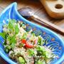 スーパーフード「キヌア」を使った簡単サラダ♫「キヌアと枝豆のサラダ」、長女現地校の最終日。