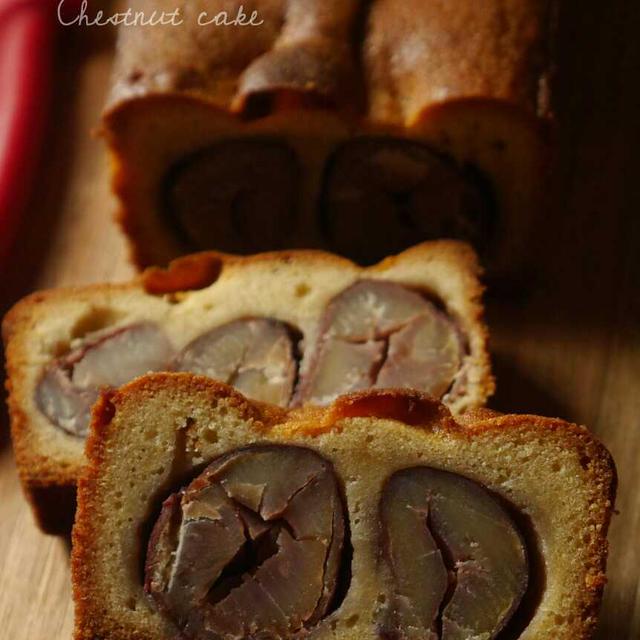 栗のパウンドケーキ。