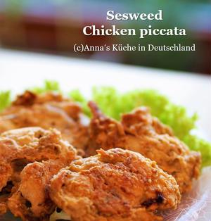 鶏むね肉で作る海苔の佃煮ピカタ風