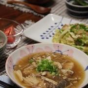 麺つゆで ぶりときのこのみぞれ煮。