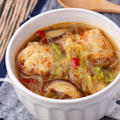 ごろごろ肉団子と白菜の旨辛スープ。全力でお勧めしたいお風呂グッズ。