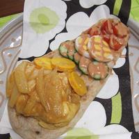 ナンプレート de ティッカ風チキン&野菜達