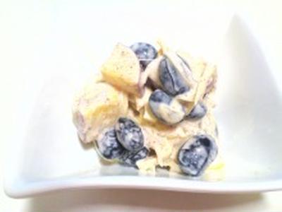黒豆とさつま芋のピーナッツマヨ和え