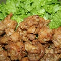 豚小間肉のフンワリ唐揚