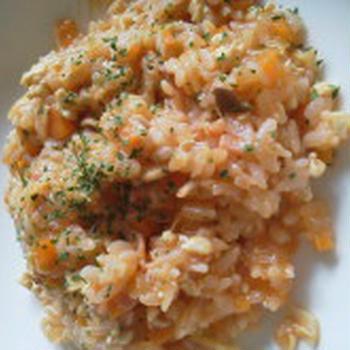 豆腐そぼろinトマトとチーズのリゾット