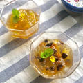 ペパーミントを使ったミントジュレで副菜とデザート2品