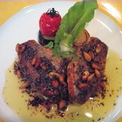 白身魚のポワレ・松の実とオレガノのムニエルソース