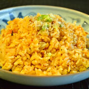 【キムチのマヨケチャップ焼き飯】ちょい辛 朝ごはん(印刷用)