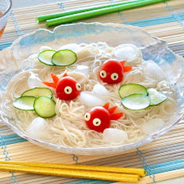 トマト金魚そうめん (レシピ) | 英語料理 レシピ動画 | OCHIKERON