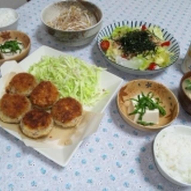 ツナ缶で簡単すぎる冷汁と、コロッケ☆