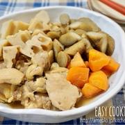 少し時短!美味しい~♡鶏肉と根菜の煮物-簡単*時短*作り置き*和食*みたらし団子