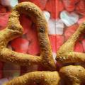 捏ねないパン! 干し海老と青海苔のグリッシーニ