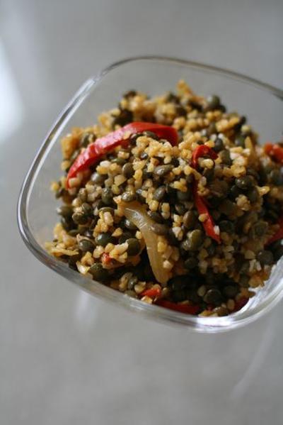 レンズ豆とレッドペッパーのサラダ