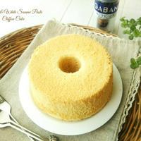 バニラと白練りごまのシフォンケーキ(12cm)&白ごまとメープルシロップのクリーム