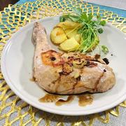 炊飯器で簡単☆少量のオイルでヘルシーな骨付き鶏もも肉のコンフィ