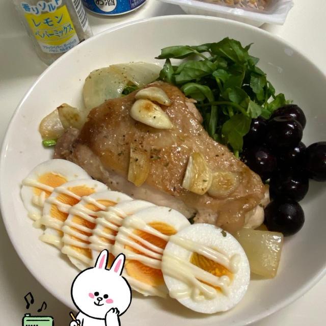 おウチ時間☆レモンペッパーフライパン焼きチキン