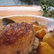 鶏肉と栗の洋風煮込み