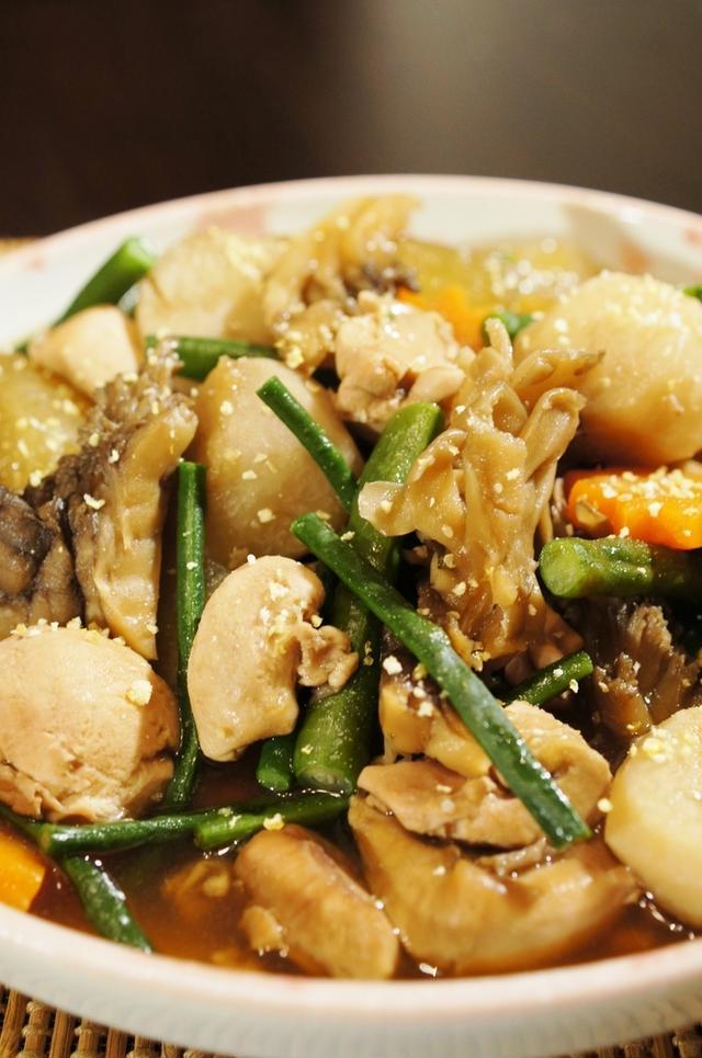 7. 真鱈子と里芋の炊き合わせ