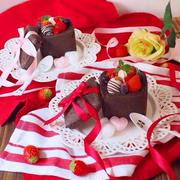 バレンタインに♡牛乳パック出来ちゃうミニキューブチョコパン