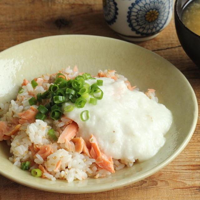 お昼ごはんに簡単丼ぶり★鮭とろろ丼