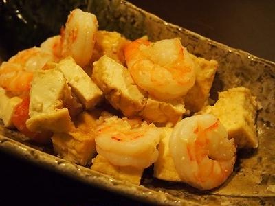 海老と厚揚げの塩麹炒め