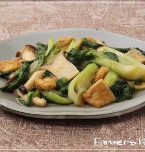 『チンゲンサイとエリンギ、薄揚げの中華煮』