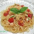 バジルで爽やか~フレッシュトマトの冷製パスタ♪ by ei-recipeさん