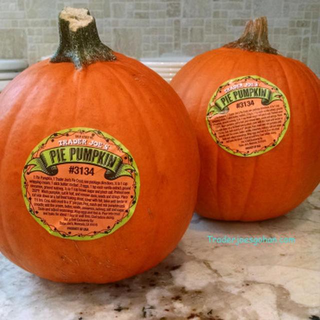 Trader Joe's Sugar Pie Pumpkin パンプキンピューレの作り方とパンプキンスープのレシピ