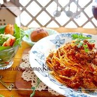 自家製トマトソースで作る♪チーズ香るサルシッチャ風パスタ