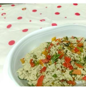 冷蔵庫の残り端切れ野菜で【Recipe:洋風炒り豆腐】