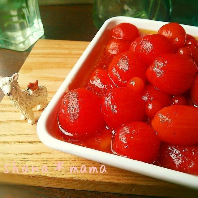 爽やかジューシー♪ミニトマトの蜂蜜マリネ♪