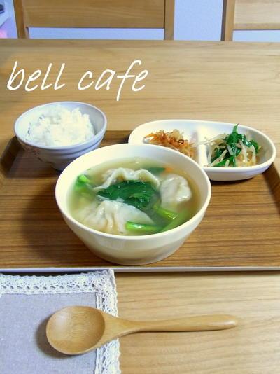 水餃子の小松菜スープ