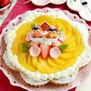 ひな祭りに♪ 黄桃のヨーグルトムースタルト