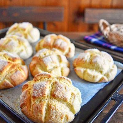 【30分でできる魔法のパン】サクサク メロンパン