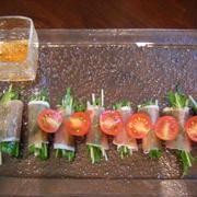 水菜の生ハムロール