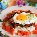 【主食】沖縄カフェ飯♡目玉焼きのっけタコライス♡ ハンブルクの素敵カフェ♡cafe amira