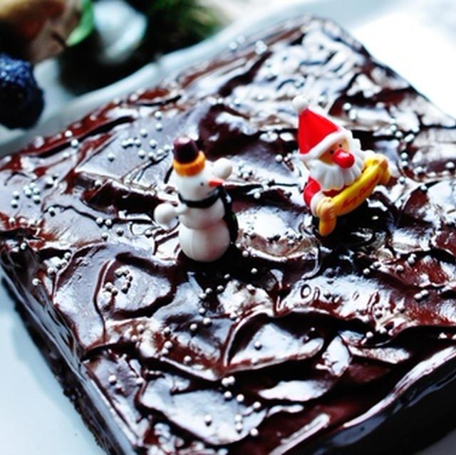 チョコレートファッジケーキ焼きました