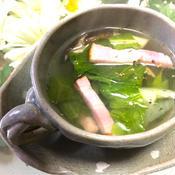 野菜たっぷりベーコンのスープ