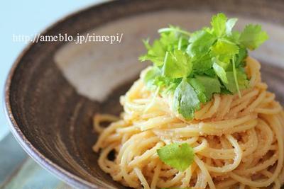 シンプルに・・オリーブオイル明太子スパゲッティ
