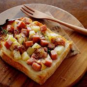 スパムとポテトのチリマヨトースト・・♪&珈琲の焼きショコラ(モニター)♪