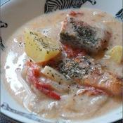 鮭のトマトクリーム煮