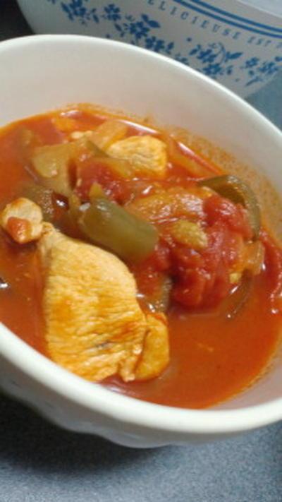 チキンと夏野菜のトマト煮