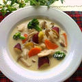 ボーソー米油部♪さつま芋と鶏むね肉の豆乳クリーム煮 by TOMO(柴犬プリン)さん