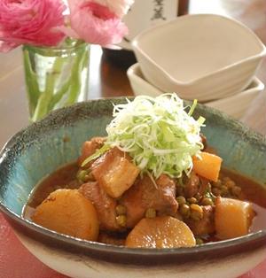 大根と豚の味噌豆板醤コクうま角煮