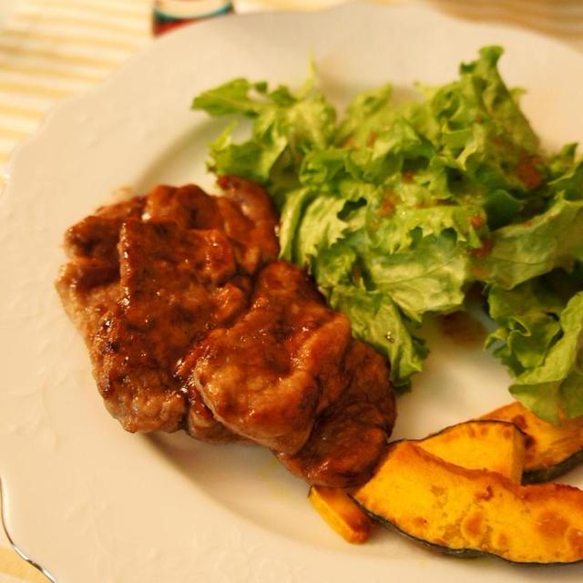 ★豚フィレ肉のソテー赤ワインソース**冬太りが気になるけど肉が食べたい時に