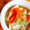 キャベツと油揚げの梅スープ