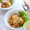 マイタケと白菜のバター炒め(ガラムマサラ風味)