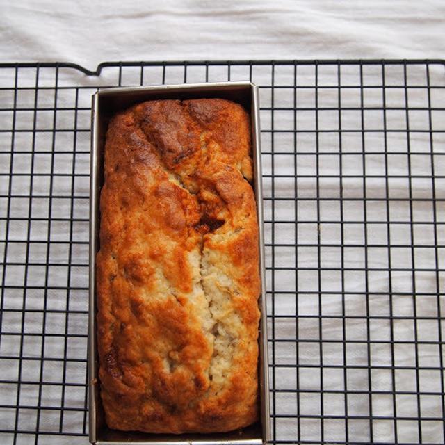 クリームチーズ&バナナキャラメルマーブルパウンドケーキ