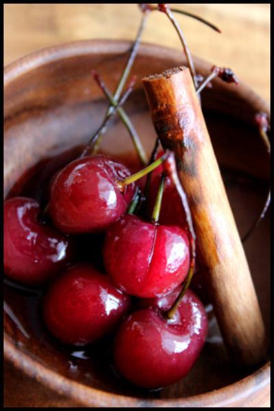 アメリカンチェリーの赤ワインコンポート